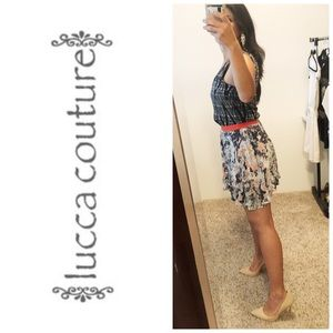 Lucca Couture Floral One Shoulder Dress S